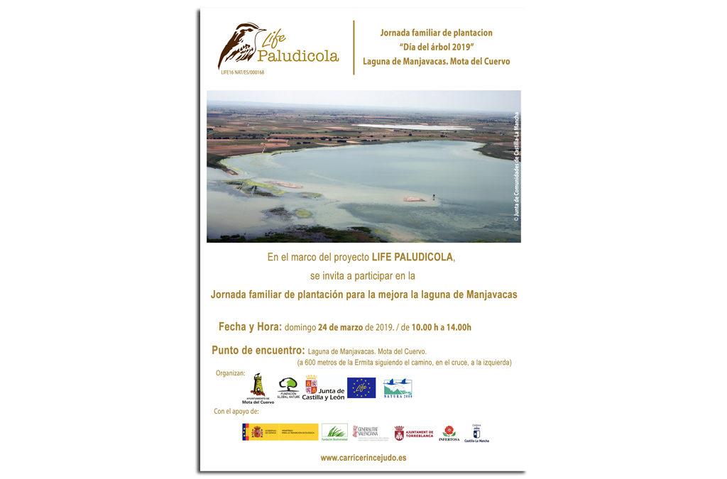 LIFE PALUDICOLA CELEBRA EL DÍA FORESTAL MUNDIAL CON UNA PLANTACIÓN CON FAMILIAS EN MANJAVACAS