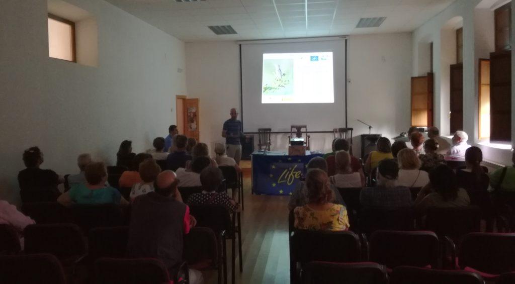 Momento de la charla Frechilla, Palencia.
