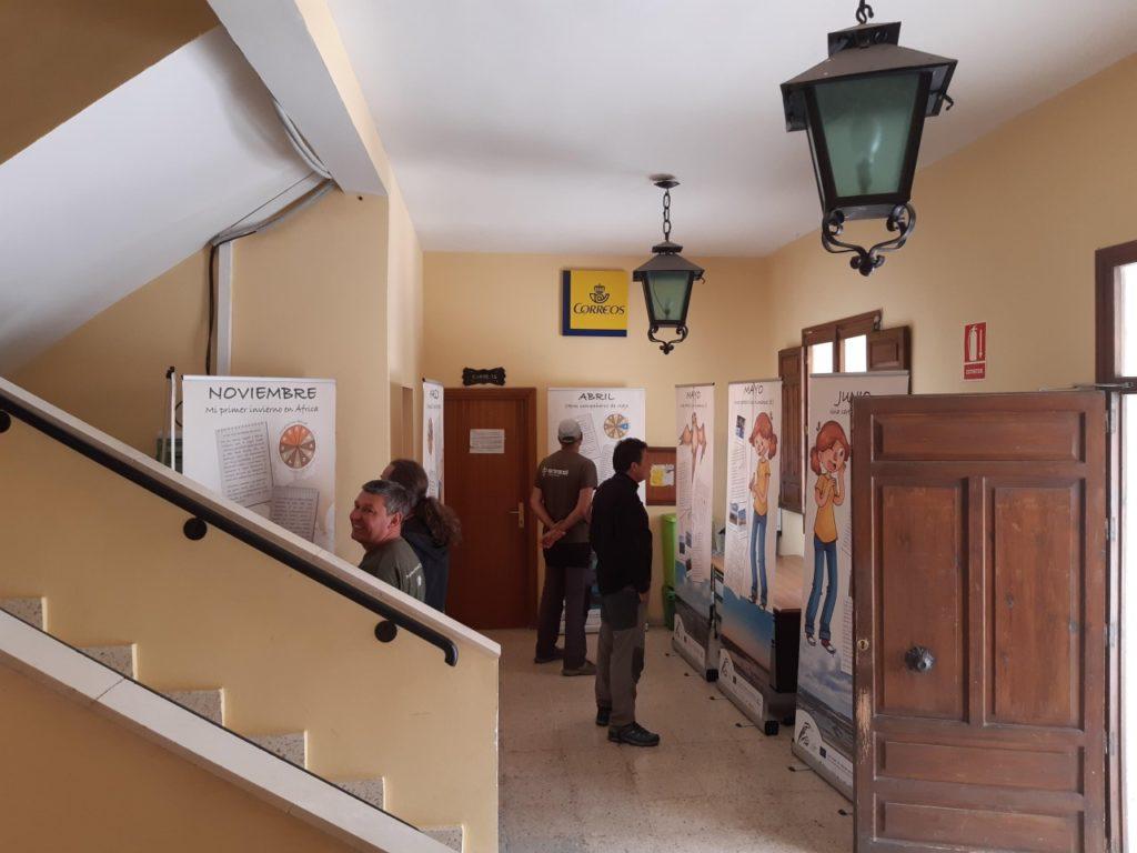 Exposición en el Ayuntamiento de Fuentes de Nava, Palencia.
