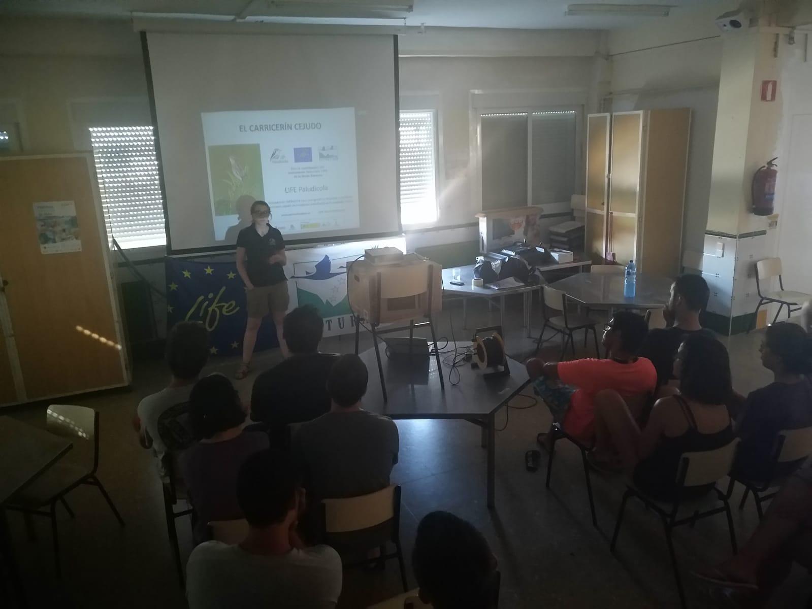 Charla al grupo de voluntarios ambientales, Enguera (Valencia)