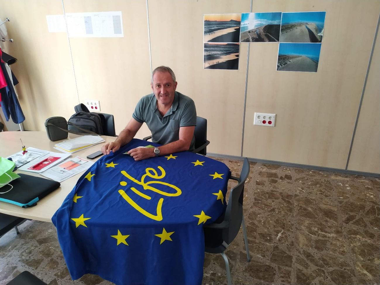 Reunión con Evaristo Cebrián Concejal del Ayuntamiento de Xeraco.