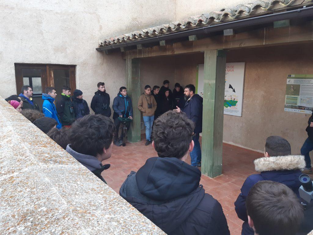 Visita de campo a La Nava de la Escuela de Capacitación Agraria de Almanza, Soria.