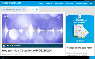 (Español) ENTREVISTA EN HOY POR HOY CASTELLÓN – CADENA SER